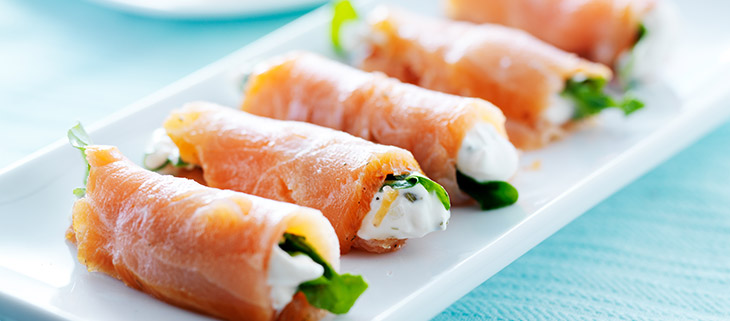 Smoked Salmon Roll-Ups – The Cheeseman