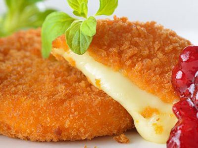 crumbed-camembert-with-cranberry-sauce